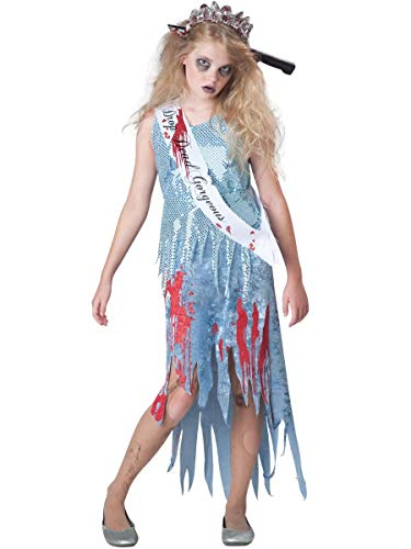 InCharacter Costumes Junior's Homecoming Horror Queen Costume, Blue, Small(8-10) -