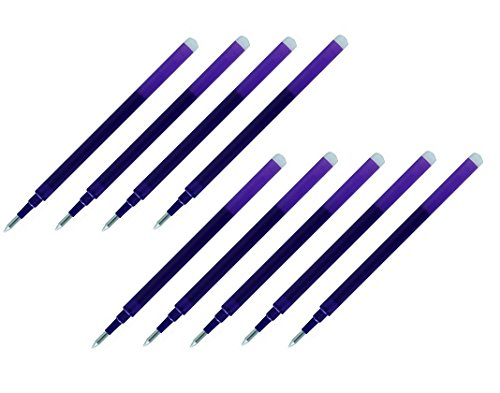 Pilot Gel Ink Refills for FriXion Erasable Gel Ink Pen, Fine Point 0.7mm, Violet Ink, Pack of 9