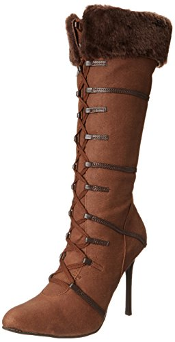 Ellie Shoes Women's 433 Viking Boot, Brown, 9 M US