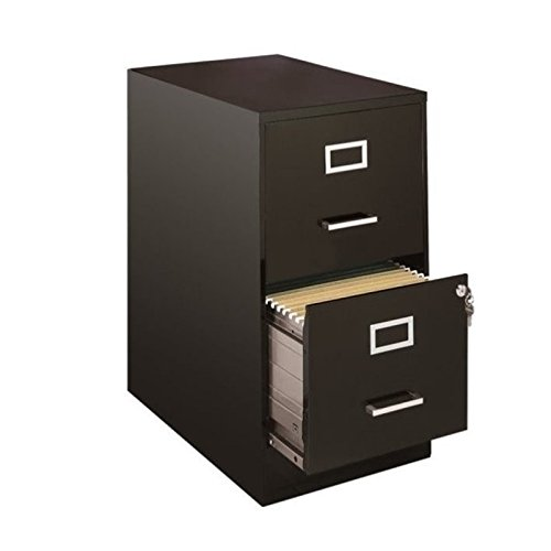 Scranton & Co 2 Drawer File Cabinet in Black ()