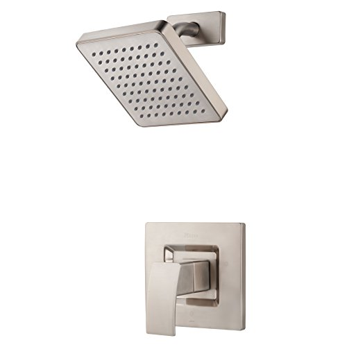 Pfister  G89-7DFK  Kenzo 1-Handle Shower Faucet Trim with Square Shower Head 2.0 gpm Brushed Nickel