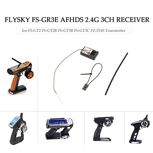 millet16zjh 1/2Pcs Flysky FS-GR3E AFHDS 2.4G 3CH Receiver for RC Car Rock Crawler Boats - 2pcs