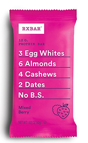 RXBAR Whole Food Protein Bar, Mixed Berry, 24 Count