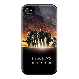 Tpu Fashionable Design Halo Rugged Case Cover For Iphone 4/4s New