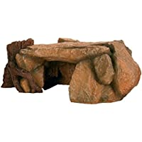 Trixie 8847 Rock Plateau with Tree Trunk Aquarium Decoration 25 cm