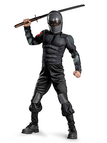 Gi Joe Costume (G.i. Joe Retaliation Snake Eyes Classic Muscle Costume, Black,)