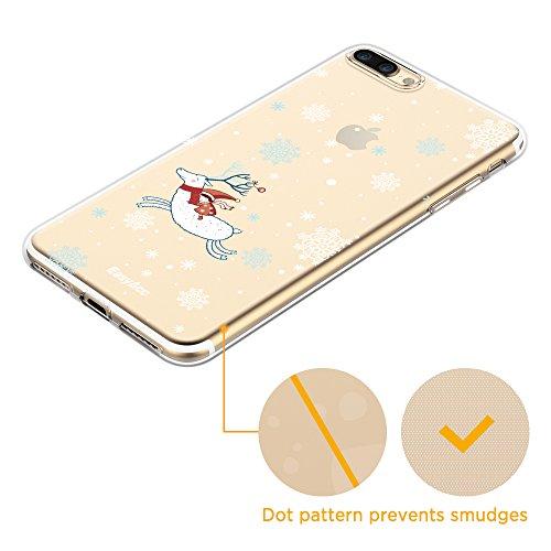 EasyAcc Funda para iPhone 7 Plus iPhone 8 Plus Carcasa Transparente con Cuadro Ultra Delgada de TPU Recorte Preciso Protector y Flexible