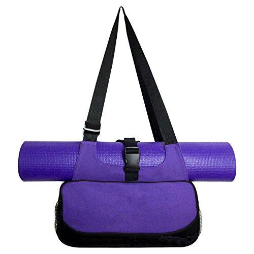 Sinolofty Canvas Compact Yoga Mat Bag Carrier Adjustable Shoulder Bags Lightweight For Yogis
