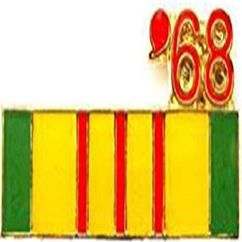 Vietnam Veteran 1968 Ribbon Lapel Cap Hat Pin Tie Tac Marines Army Navy Air ()