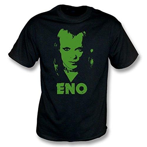 TshirtGrill T-Shirt Brian Enos (siebziger Jahre Foto), Farbe- Schwarzes