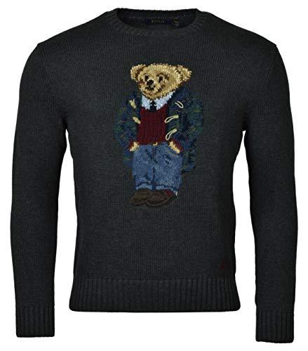Polo Ralph Lauren Men's Bear Pullover Sweater, Gray