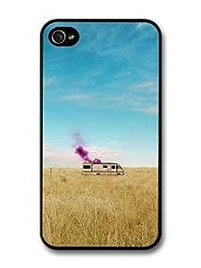 AMAF ? Accessories Breaking Bad Heisenberg Cooking Meth in the Van in a Field case for iPhone 4 4S