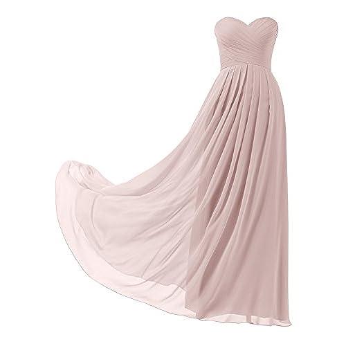 Long Bridesmaids Dresses Dusty Rose: Amazon.com
