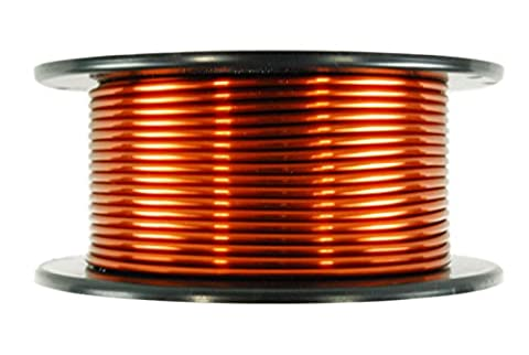 TEMCo 8 AWG Copper Magnet Wire - 1.5 lb 35 ft 200°C Magnetic Coil Winding