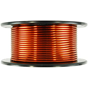 TEMCo 8 AWG Copper Magnet Wire - 1 lb 20 ft 200°C Magnetic Coil Winding