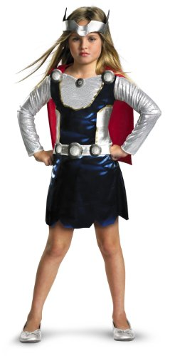 Marvel Universe Thor Girl Costume, Red/White/Blue, X-Small]()