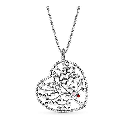 PANDORA Tree of Love Silver 30 inches Necklace 396582ENMX-75 (Tree Of Life Jewelry)