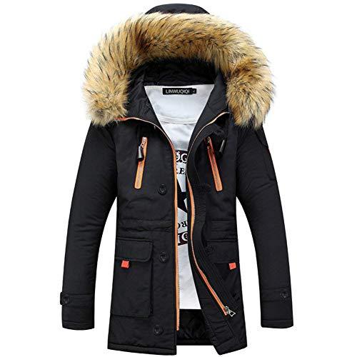 Trench Manteau Hommes À Fourrure Coton Chaud Essentiel Respirant Manteaux De En Imperméable Schwarz L'eau Bqwn7