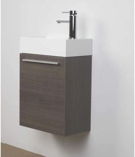 ConceptBaths 18 Small Wall Mount Modern Bathroom Vanity Set TN-T460-GO