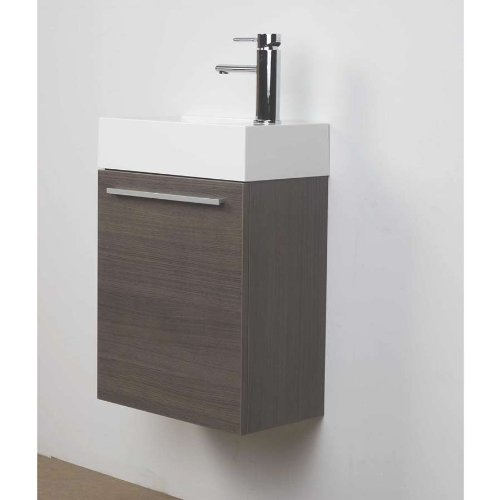 "ConceptBaths 18"" Small Wall Mount Modern Bathroom Vanity Set TN-T460-GO"