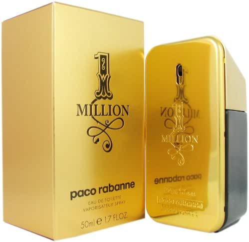 Paco Rabanne One Million Eau de Toilette Spray for men, 1.7 Fluid Ounce