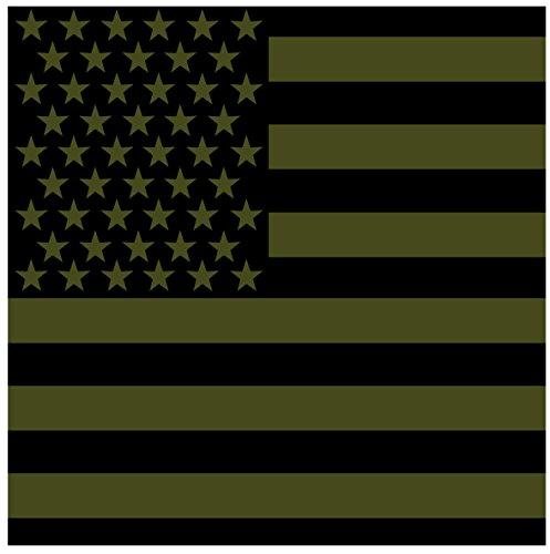 Rothco Subdued US Flag Bandana, Olive Drab, -
