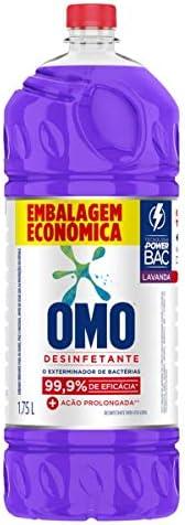 Desinfetante Uso Geral Lavanda Frasco 1.75L Embalagem Econômica, Omo