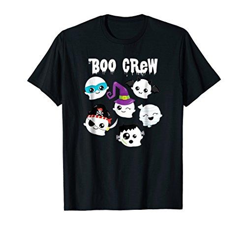 Funny Halloween Shirt Kids Girl Boy BOO CREW Cute Ghosts Tee ()