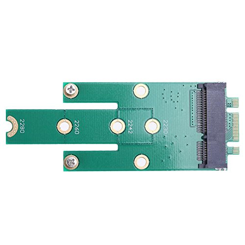 - Alloet NGFF M.2 B + M Key to mSATA Mini PCI-E SATA 3.0 SSD Male Converter Card