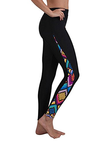 Geek Lighting Womens Wetsuit Pants Smooth Surfing Board Diving Pants Floral-B - Wetsuit Womens Pants