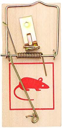 10X 木製 齧歯類キャッチャー ベイトスナップ 害虫防除 マウスクリップ マウストラップ ネズミ捕り ラットキャッチ
