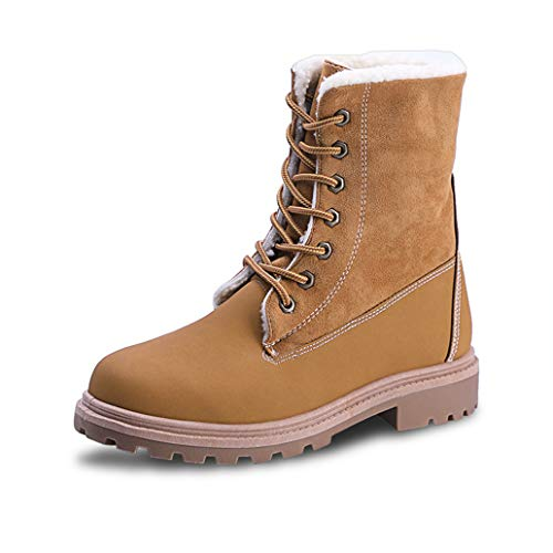 York Zhu Women's Martin Boots,Classic Women Winter Suede Ankle Snow Boots Female ()