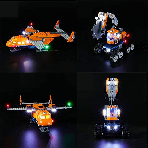 LED Lighting Kit, Voor (Arctic Supply Aircraft) Bouwblokkenmodel -USB Powered LED Light Kit Compatibel Met LEGO 60196 (Niet Inbegrepen Model)