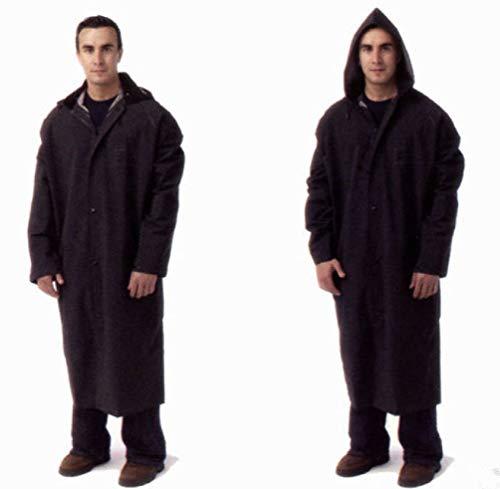 Security Guard Officer Traffic Raincoat Rain Coat Jacket Gear Black Plain