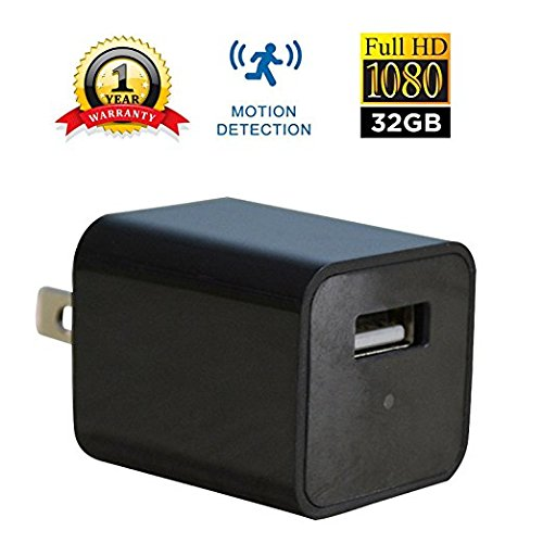 USB Wall Charger Camera | HD 1080P | Built-in 32GB Internal Memory | Motion Activated | Home Security Monitor Camcorder | No Hole | - Womens Sunglasses 2017 Trends