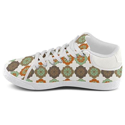 Artsadd Decorative Quatrefoil Moroccan Trellis Chukka Canvas Shoes For Men (Model003)