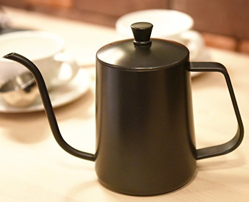 Kingnice 600 Milliliter 2.5 Cup Stainless Steel Pouring Over Gooseneck Kettle for Coffee or Tea