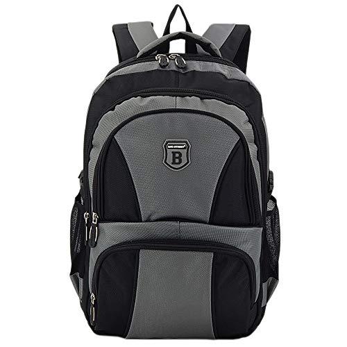 4d9fc90ba12ba Ergonomisches Daypack City Damen Herren Rucksack Schulrucksack Backpack  Tasche für Reise Sport Freizeit (B1 Grau-Schwarz)  Amazon.de  Koffer