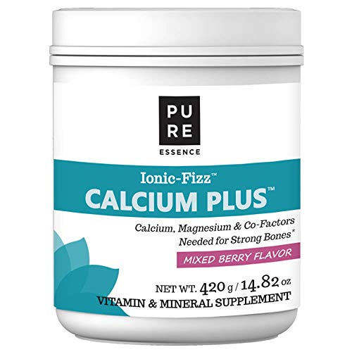 Pure Essence Labs Ionic Fizz Calcium Plus - Perfect Calcium/Magnesium Ratio With Every Co-Factor Needed For Strong Bones - Mixed Berry - 420 Grams (Labs Energy Plus Essence Pure)