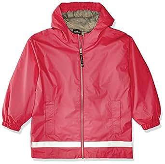 Charles River Apparel Kids' Toddler New Englander Rain Jacket, hot Pink/Reflective, 2T