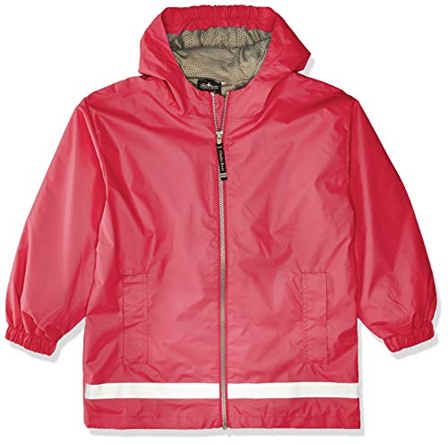 Charles River Apparel Kids' Big New Englander Rain Jacket, hot Pink/Reflective, S
