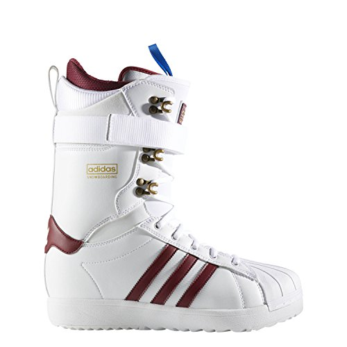 Gold Mens Snowboard Binding - adidas Skateboarding Men's Superstar ADV Footwear White/Collegiate Burgundy/Gold Metallic 11 D US