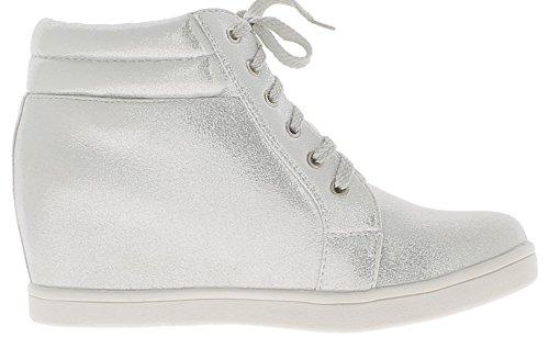 cm con Wedge hasta Shoes clavos 5 6 Silver Silver Tacón ChaussMoi PzqgIwx5P
