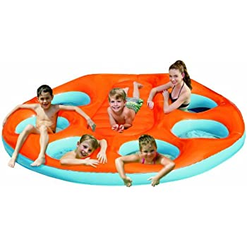 Blue Wave Party Island Inflatable Raft Toys Games