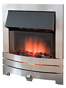 Royal Cozy Fire RCF5 - Chimenea eléctrica (acero inoxidable cepillado)