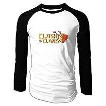 Men's Clash Of Clans Logo Baseball Raglan T-Shirt