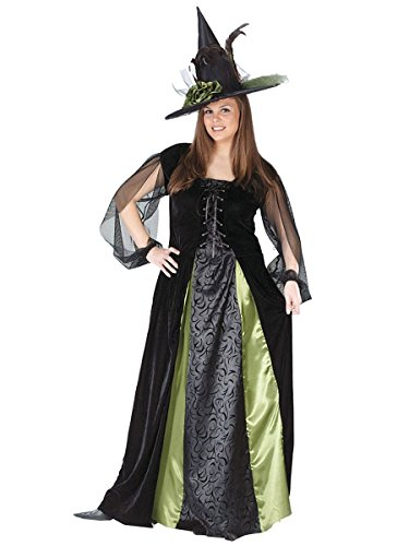 Elegant Witch Adult Plus Costumes (Goth Maiden Witch Adult Costume - Plus Size 1X/2X)