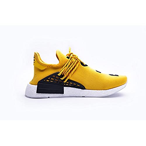 cheap Adidas Mens Pharrell Williams X Human Race NMD Yellow/Black-White  Fabric