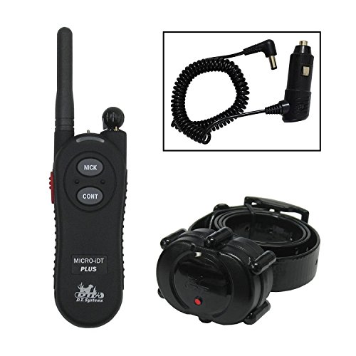 DT Systems Dog Training Collar with Remote - Micro-iDT PLUS eCollar is a Lightweight Trainer - 900 Yard (1/2 mile) Range - Rechargeable and Completely Waterproof Collars - Bonus FREE Car Charger