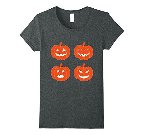 Womens Cute Simple Family Friendly Tee Halloween Tshirt XL Dark (Family Themed Halloween Ideas)